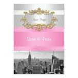 Blanco de BW 05 del horizonte de NYC, fiesta Comunicado Personal
