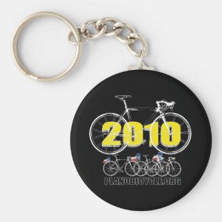 Blanco de ciclo del logotipo de la bicicleta 2010  llavero