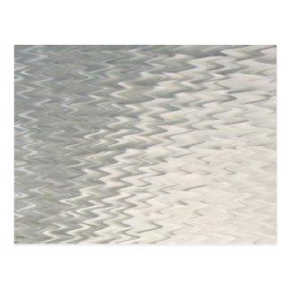 Blanco de cristal artsy ondulado de la textura de  postal