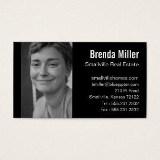 Blanco de encargo del negro del negocio de las tarjeta de negocios
