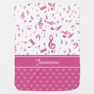 Blanco de encargo del rosa del modelo de las notas mantitas para bebé