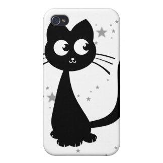 Blanco de Kuro del gatito iPhone 4/4S Fundas