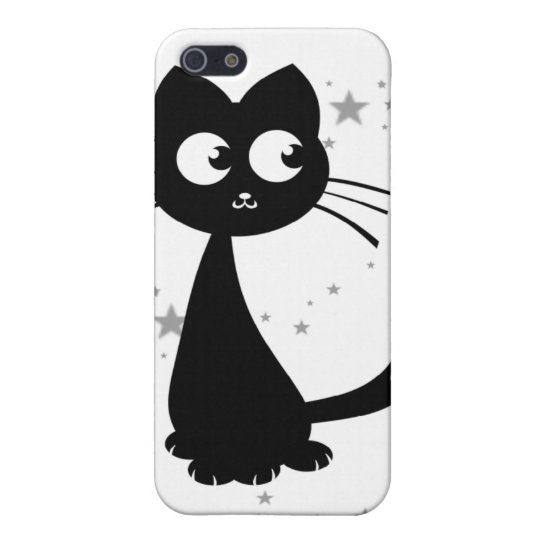 Blanco de Kuro del gatito iPhone 5 Carcasas