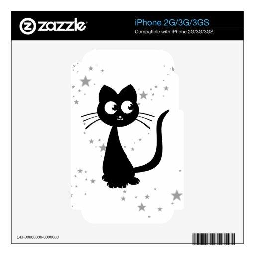 Blanco de Kuro del gatito Skin Para El iPhone 2G
