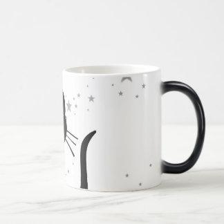 Blanco de Kuro del gatito Tazas De Café