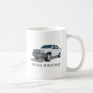 Blanco de la avalancha taza de café