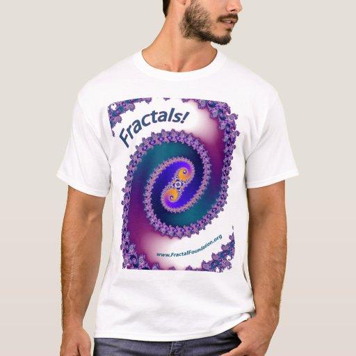 Blanco de la camisa del fractal