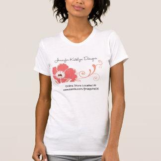 Blanco de la camiseta de los diseños de Jennifer Remeras