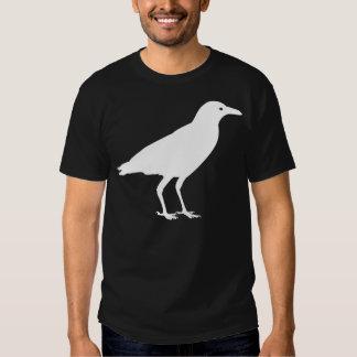 Blanco de la camiseta del cuervo camisas