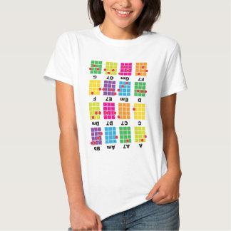 Blanco de la camiseta del tramposo del acorde playera