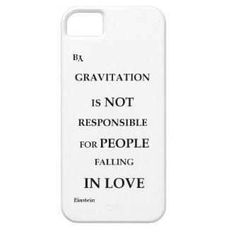 blanco de la cita de la gravitación del caso del funda para iPhone SE/5/5s