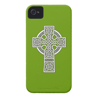 Blanco de la cruz céltica iPhone 4 cobertura