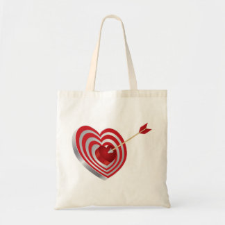 Blanco de la diana del corazón y bolso de la flech bolsa tela barata