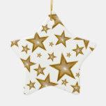 Blanco de la estrella del ornamento de las estrell