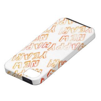 blanco de la Feliz Año Nuevo iPhone 5 Case-Mate Cobertura