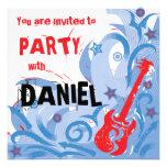 Blanco de la invitación del fiesta de la guitarra