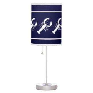 Blanco de la LANGOSTA en azul Lámpara De Mesa