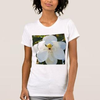 Blanco de la magnolia camiseta