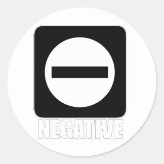 Blanco de la negativa 1 pegatina redonda