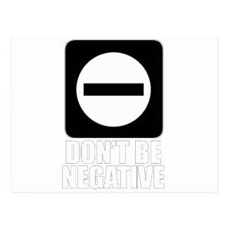 Blanco de la negativa 2 tarjeta postal