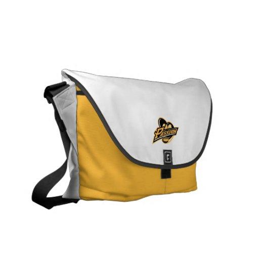 Blanco de la pasión de Pittsburgh y bolso del oro Bolsas Messenger