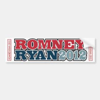 Blanco de la pegatina para el parachoques RomneyRy Etiqueta De Parachoque