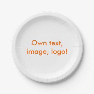 Blanco de la placa de papel uni platos de papel