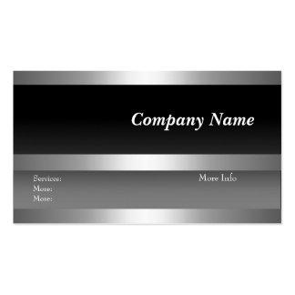 Blanco de la plata del negro de la empresa de tarj tarjeta de visita