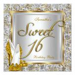Blanco de la plata del oro del fiesta del dulce 16 anuncio