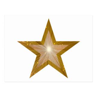Blanco de la postal de la estrella del oro