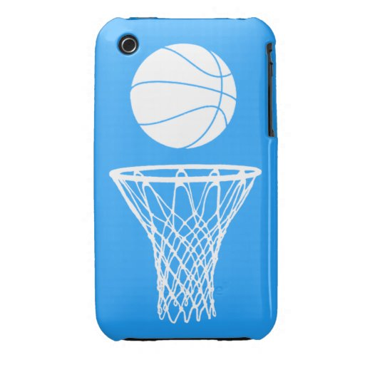 blanco de la silueta del baloncesto del iPhone 3 Case-Mate iPhone 3 Carcasa