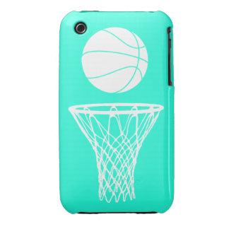 blanco de la silueta del baloncesto del iPhone 3 e Case-Mate iPhone 3 Protector