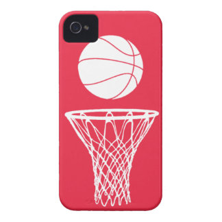 blanco de la silueta del baloncesto del iPhone 4 e iPhone 4 Carcasas