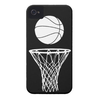 blanco de la silueta del baloncesto del iPhone 4 e Case-Mate iPhone 4 Protector