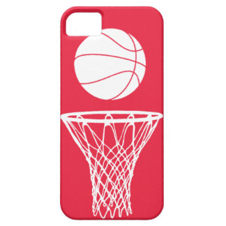 blanco de la silueta del baloncesto del iPhone 5 e iPhone 5 Protectores