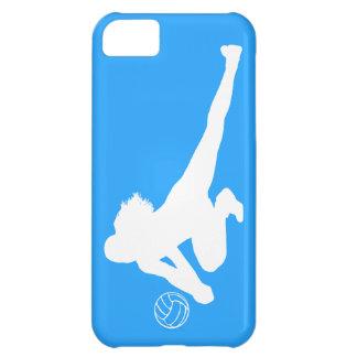 blanco de la silueta del empuje de la casamata del funda para iPhone 5C
