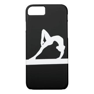 blanco de la silueta del gimnasta del caso del funda iPhone 7