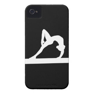 blanco de la silueta del gimnasta del iPhone 4 en Case-Mate iPhone 4 Coberturas