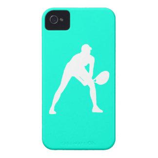 blanco de la silueta del tenis del iPhone 4 en la  iPhone 4 Case-Mate Cobertura
