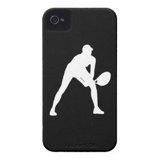 blanco de la silueta del tenis del iPhone 4 en neg Case-Mate iPhone 4 Carcasas