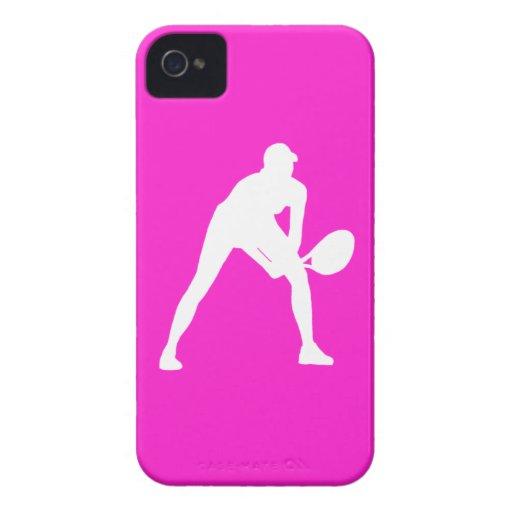 blanco de la silueta del tenis del iPhone 4 en ros Case-Mate iPhone 4 Carcasa