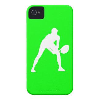 blanco de la silueta del tenis del iPhone 4 en ver iPhone 4 Protector