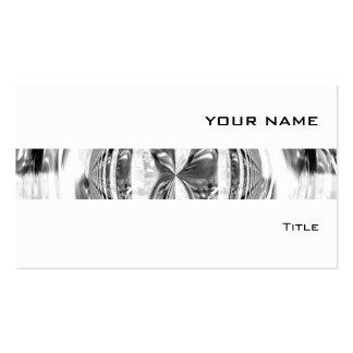 Blanco de la tarjeta de visita de la raya del crom