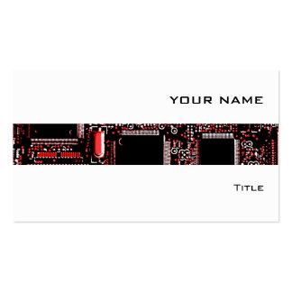 Blanco de la tarjeta de visita de la raya del rojo