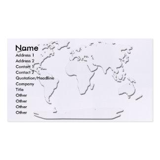 Blanco de la tarjeta de visita del mapa del mundo