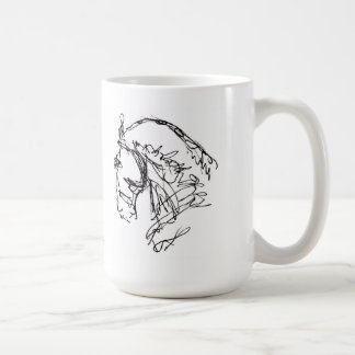 Blanco de la taza de la cabeza de caballo del Dres