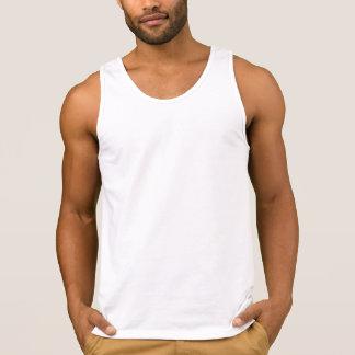 Blanco de las camisetas sin mangas del algodón de