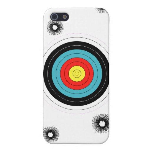 Blanco de los armas de las balas de los agujeros d iPhone 5 carcasas