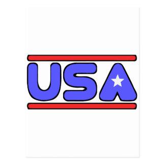 Blanco de los E.E.U.U. y azul rojos Tarjetas Postales