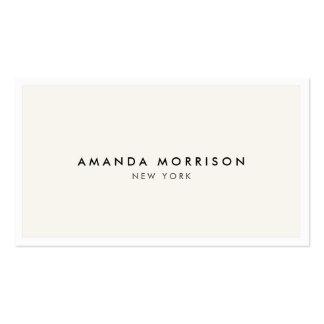 Blanco de lujo elegante y refinado del tarjetas de visita